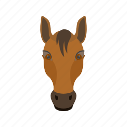 animal, face, fast, horse, horses, race, riding icon