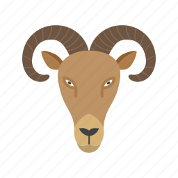animal, face, farm, goat, mountain, nature, sheep icon