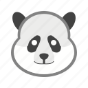 animal, bamboo, cute, mammal, panda, snow, wildlife icon