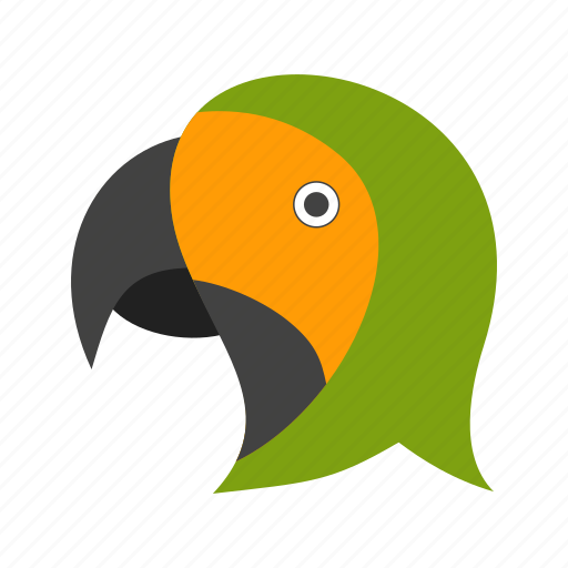 bird, cute, feather, flying, green, jungle, parrot icon