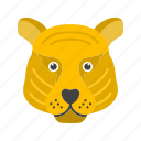 animal, cub, fast, mammal, predator, tiger, wild icon