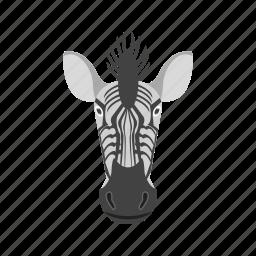 africa, animals, safari, tall, wild, zebra, zebras icon