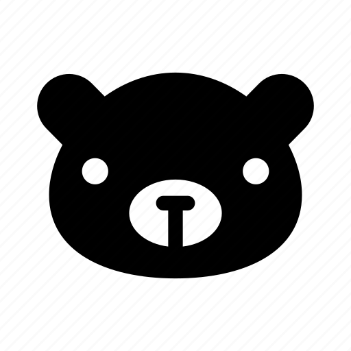 animal, bear, bear face, big bear, black bear icon