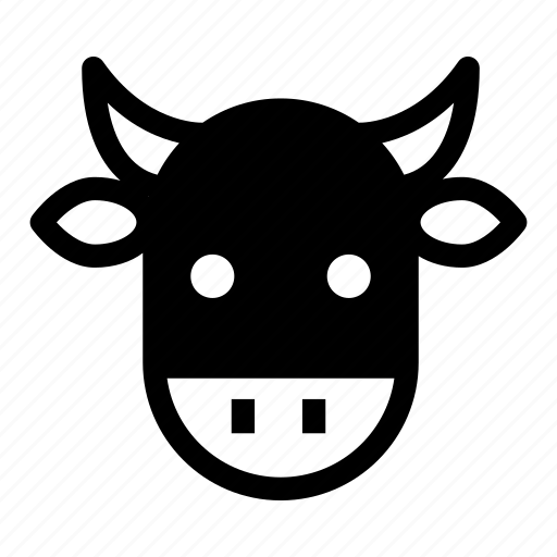 animal, bull, cow, cow face, farm icon