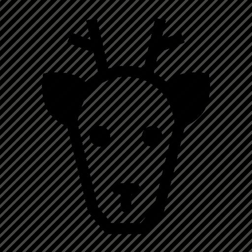 animal, christmas, deer, deer face, reindeer icon