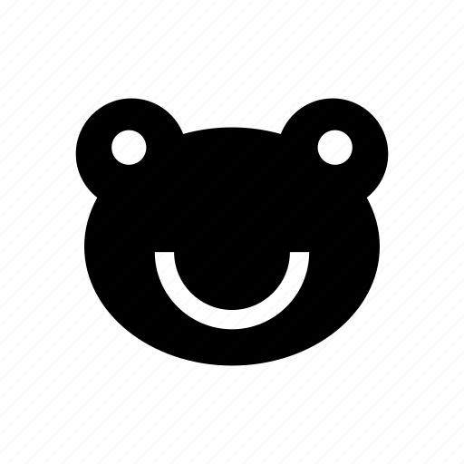 amphibian, animal, frog, frog face, toad icon