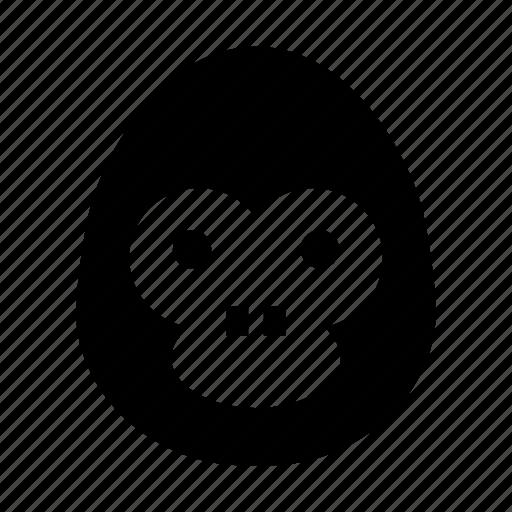 gorilla, gorilla face, monkey, safari, wild animal icon