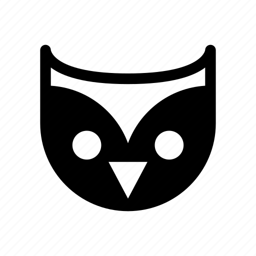 animal, bird, night animal, owl, owl face icon