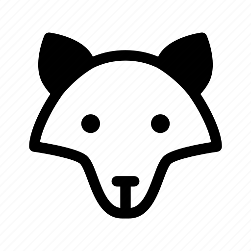 animal, dog, fox, wolf, wolf face icon