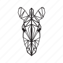 animal, forest, geometric, giraffe, jungle, zebra, zoo icon
