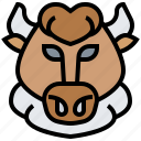 bison, buffalo, bull, mammal, wildlife icon