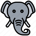 animal, elephant, safari, tusk, wildlife icon