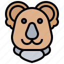 bear, endangered, furry, koala, marsupial icon