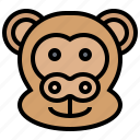 macaque, mammal, monkey, primate, wildlife icon