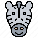 herbivore, safari, striped, wildlife, zebra icon