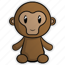 africa, animal, animals, jungle, monkey, nature, zoo icon