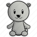 animal, animals, antartica, bear, nature, polar bear, zoo icon