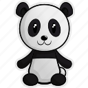 africa, animal, animals, forest, jungle, panda, pet icon