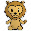 africa, animal, animals, forest, jungle, lion, nature icon