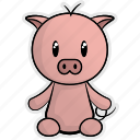 animal, animals, cute, farm, nature, pet, pig icon