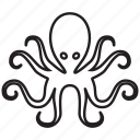 cephalopod, devilfish, octopus, poulpe, sea food, seafood, underwater icon