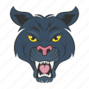 panther mascot, panther face, panther, tiger head, angry panther icon