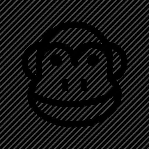animal, ape, chimpanzee, monkey, monkey face icon