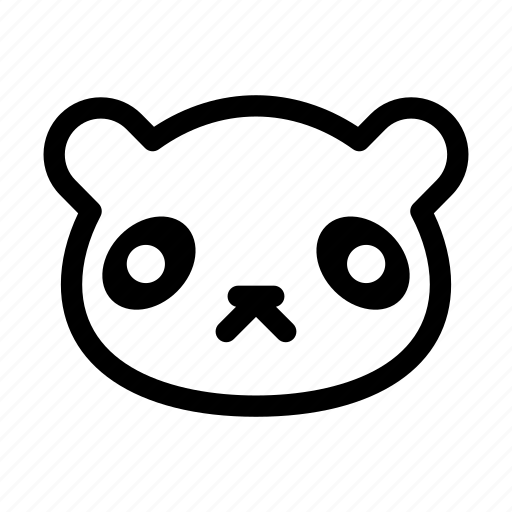 animal, bear, panda, panda face, zoo icon