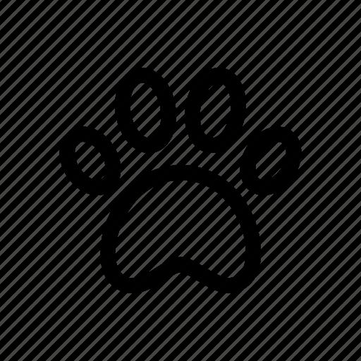 animal, paw, pet, pet paw, trace icon