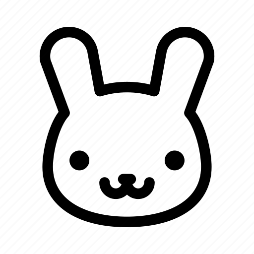 animal, bunny, bunny face, pet, rabbit icon