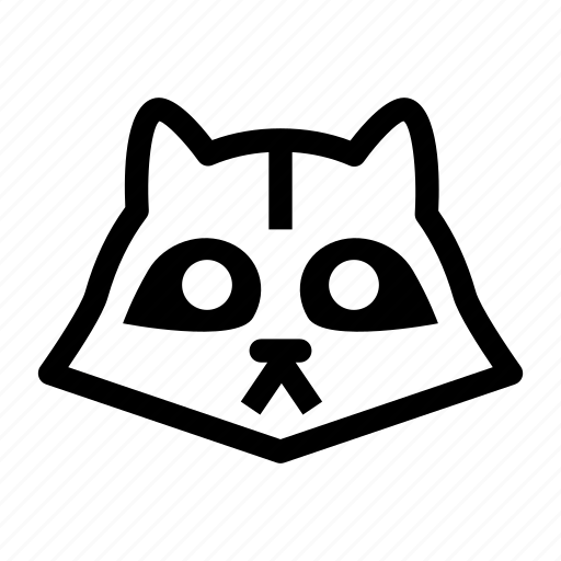 animal, raccoon, raccoon face, skunk, wild animal icon