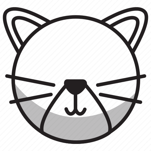 animal, avatar, cat, face, mammal, outline, pet icon