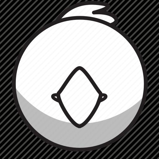 animal, avatar, bird, face, outline icon