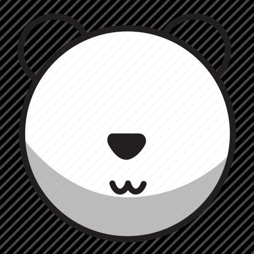 animal, avatar, face, outline, panda, zoo icon
