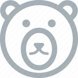 animal, animals, bear, big bear, nature, polar bear, zoo icon