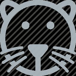 animal, animals, cat, feline, whiskers icon