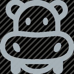 animal, animals, hippo, hippopotamus, zoo icon