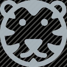 animal, animals, line animal, lion, roar icon