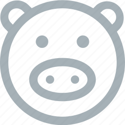 animal, animals, oink, pig, pigs, zoo icon