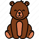 animal, bear, brown, nature