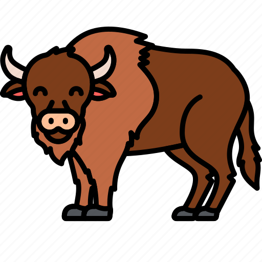Bison, buffalo, bull, animal icon - Download on Iconfinder
