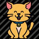 animal, cat, feline, pet icon