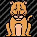 animal, big, cat, cougar icon