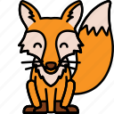 animal, fox, orange, zoo