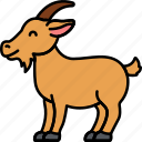 animal, goat, horns, mountain