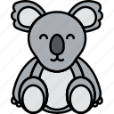 animal, australia, bear, koala icon