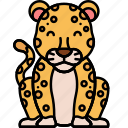 animal, cat, leopard