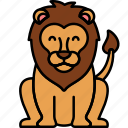 animal, cat, lion icon