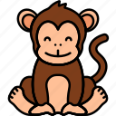 animal, ape, monkey, zoo icon