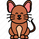mouse, rodent, animal, brown